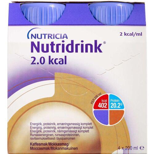 Køb Nutridrink 2.0 Kcal Mokka 4 x 200 ml online hos apotekeren.dk