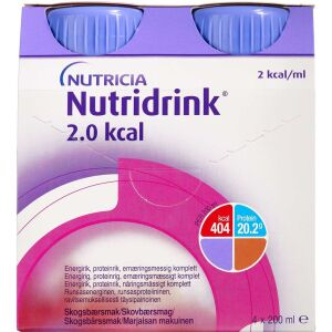 Køb Nutridrink 2.0 Kcal Skovbær 4 x 200 ml online hos apotekeren.dk
