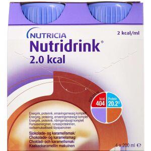 Køb Nutridrink 2.0 Kcal Choko-karamel 4 x 200 ml online hos apotekeren.dk