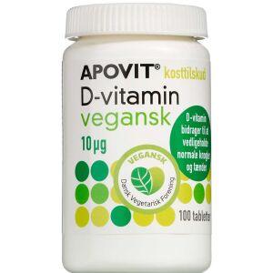 Køb Apovit D-vitamin Vegansk 10 mikg 100 stk. online hos apotekeren.dk