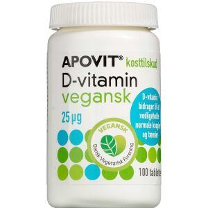 Køb Apovit D-vitamin Vegansk 25 mikg 100 stk. online hos apotekeren.dk