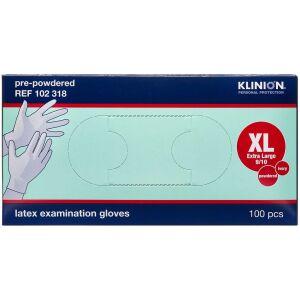 Køb Klinion Protection latexhandske let pudret, x-large 100 stk. online hos apotekeren.dk