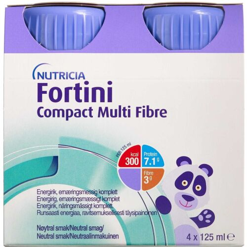 Køb Fortini Compact Multi Fibre Neutral 4 x 125 ml online hos apotekeren.dk