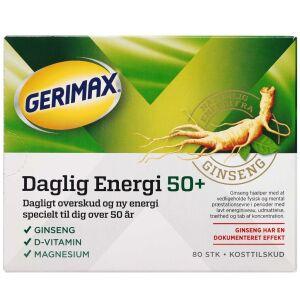 Køb Gerimax Daglig Energi 50+ 80 stk. online hos apotekeren.dk