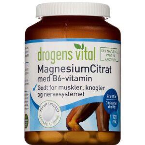 Køb Drogens Vital MagnesiumCitrat med B6-vitamin 120 stk. online hos apotekeren.dk