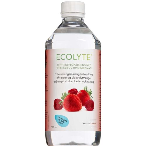 Køb Ecolyte Jordbær/Hindbær 500 ml online hos apotekeren.dk