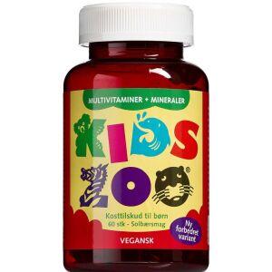 Køb Kids Zoo Vegansk multivitamin + mineraler solbærsmag 60 stk. online hos apotekeren.dk