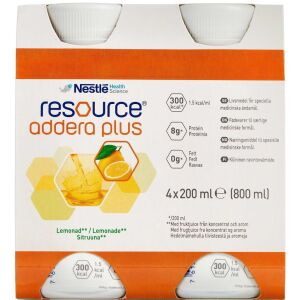 Køb Resource Addera Plus lemonade 4 x 200 ml online hos apotekeren.dk