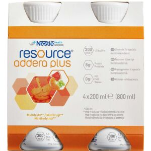 Køb Resource Addera Plus multifrugt 4 x 200 ml online hos apotekeren.dk