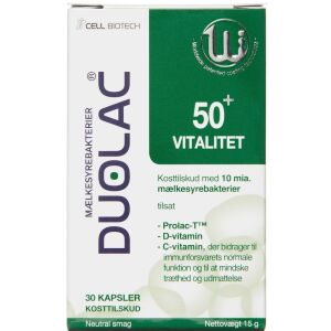 Køb Duolac Vitalitet 50+ 30 stk. online hos apotekeren.dk
