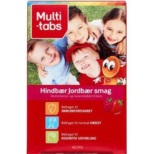 Køb Multi-tabs Børn Hind/Jordbær tyggetablet 90 stk. online hos apotekeren.dk