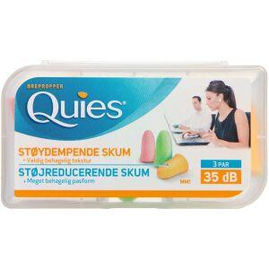 Køb Quies ørepropper af blødt skum 3 par online hos apotekeren.dk