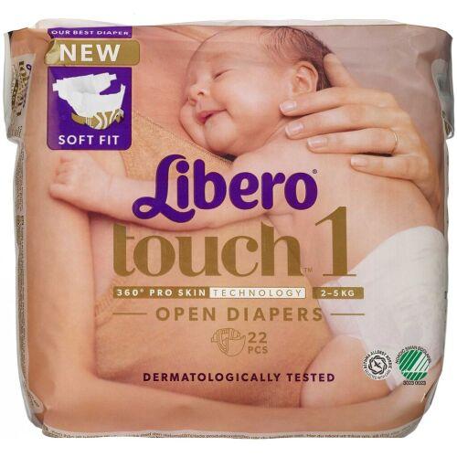 Køb Libero Touch str. 1 2-5 kg 22 stk. online hos apotekeren.dk
