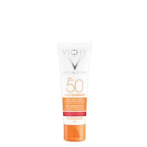 Køb VICHY CAPITAL SOLEIL ANTI-AGE 3-i-1 SOLCREME SPF50 50 ml online hos apotekeren.dk