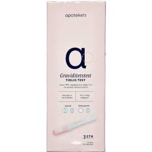 Køb APOTEKETS GRAVIDITETSTEST online hos apotekeren.dk
