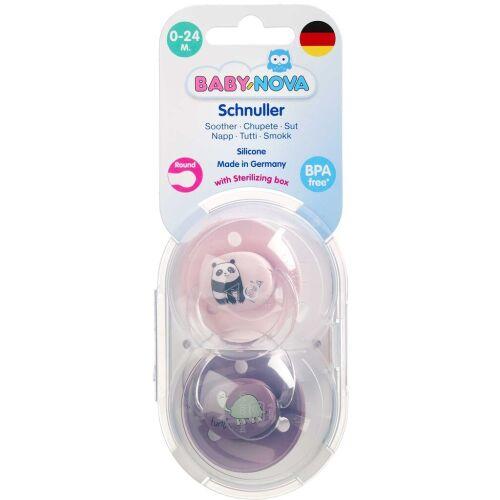 Køb Baby-Nova sut rund silikone 0-24 m+ 2 stk. online hos apotekeren.dk