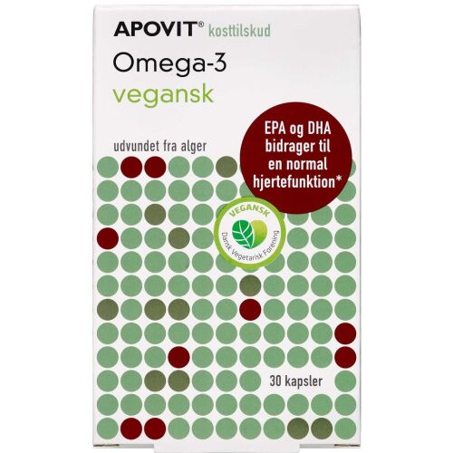 Køb Apovit Omega-3 Vegansk 30 stk. online hos apotekeren.dk