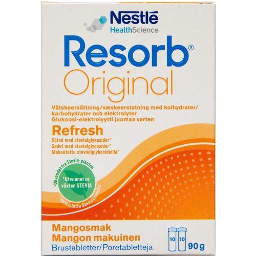 Køb Resorb Mango Brusetablet 2x10 stk. online hos apotekeren.dk