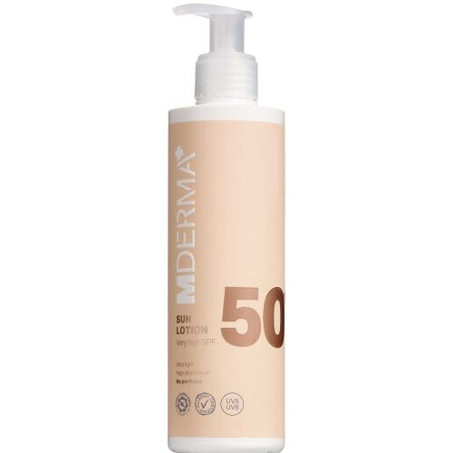 Køb MDerma Sol Sollotion SPF50 200 ml online hos apotekeren.dk