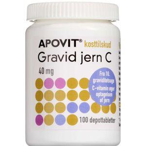 Køb Apovit Gravid Jern Vitamin-C 100 stk. online hos apotekeren.dk