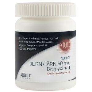 Køb ABBLO JERN 50mg Bisglycinat 100 ST online hos apotekeren.dk