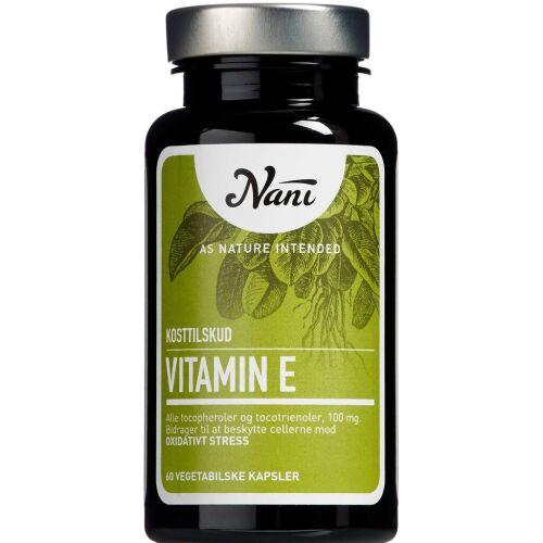 Køb Nani Vitamin E 60 stk. online hos apotekeren.dk