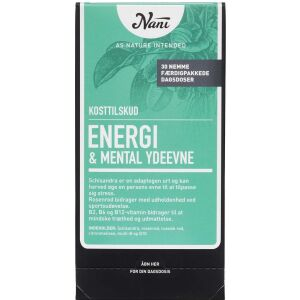 Køb Nani Kurpakke Energi og Mental Ydeevne 30 poser online hos apotekeren.dk