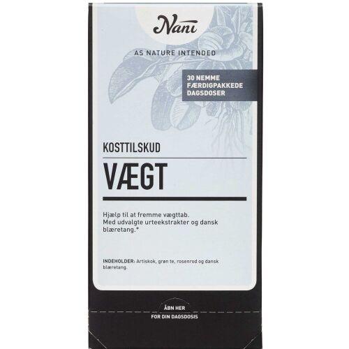 Køb Nani Kurpakke Vægt 30 poser online hos apotekeren.dk