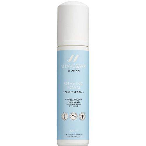 Køb Shavesafe Shaving Foam Sensitiv Skin 200ml online hos apotekeren.dk