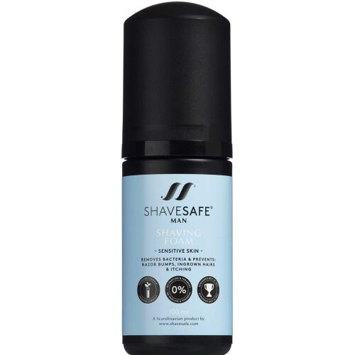 Køb ShaveSafe Man Shaving Foam - Sensitive Skin 100 ml online hos apotekeren.dk