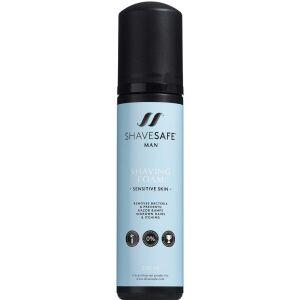 Køb ShaveSafe Man Shaving Foam - Sensitive Skin 200 ml online hos apotekeren.dk