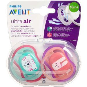 Køb Philips Avent Sut Ultra Air 18+M 2 stk. Ass. online hos apotekeren.dk