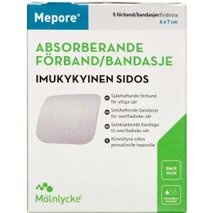 Køb Mepore selvklæbende forbinding 6x7cm 5 stk. online hos apotekeren.dk