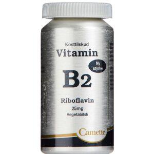 Køb B2 Vitamin Riboflavin 25 mg 90 stk. online hos apotekeren.dk