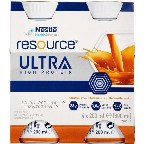 Køb Resource Ultra Karamel 4 x 200 ml online hos apotekeren.dk