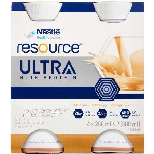 Køb Resource Ultra Kaffe 4 x 200 ml online hos apotekeren.dk