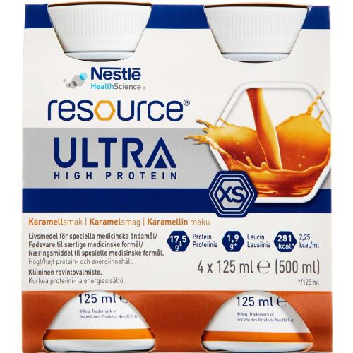 Køb Resource Ultra Karamel 4 x 125 ml online hos apotekeren.dk