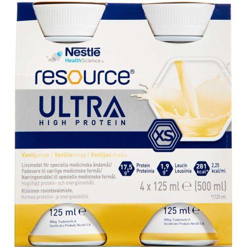 Køb Resource Ultra Vanilje 4 x 125 ml online hos apotekeren.dk