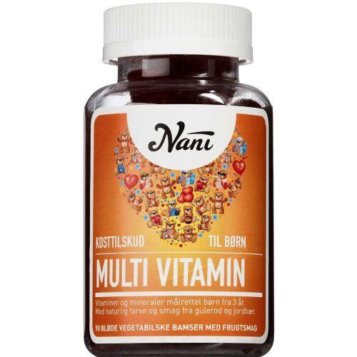 Køb Nani Multivitamin tyggebamser 90 stk. online hos apotekeren.dk