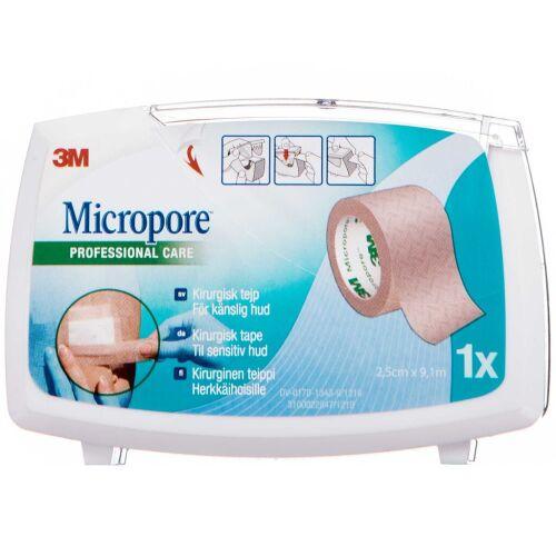 Køb Micropore Kirugisk Tape brun 2,5 cm x 9,1 m 1 stk. online hos apotekeren.dk