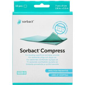 Køb Sorbact Kompres steril 7x9 cm online hos apotekeren.dk