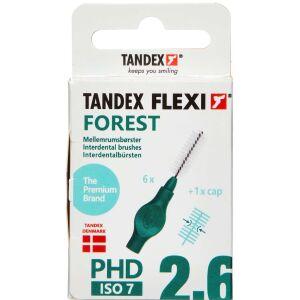 Køb TANDEX FLEXI Mellemrumsbørste - FOREST 6 stk. online hos apotekeren.dk