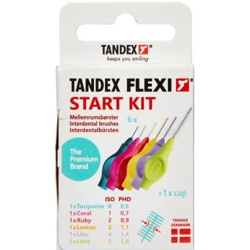Køb TANDEX FLEXI Mellemrumsbørste - START KIT 6 stk. online hos apotekeren.dk