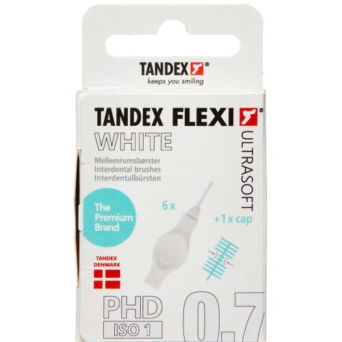 Køb TANDEX FLEXI US Mellemrumsbørste - WHITE 6 stk. online hos apotekeren.dk