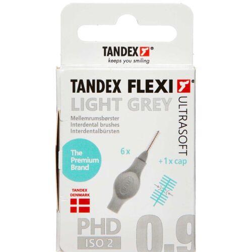 Køb TANDEX FLEXI US Mellemrumsbørste - LIGHT GREY 6 stk. online hos apotekeren.dk