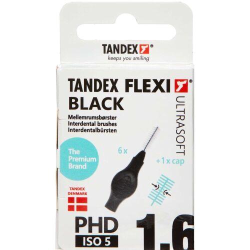 Køb TANDEX FLEXI US Mellemrumsbørste - BLACK 6 stk. online hos apotekeren.dk