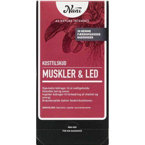 Køb Nani Kurpakke Muskler og led 30 poser online hos apotekeren.dk