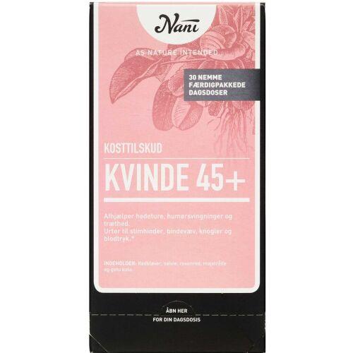 Køb Nani Kurpakke Kvinde 45+ 30 poser online hos apotekeren.dk