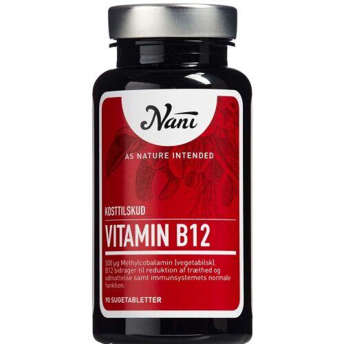Køb Nani Vitamin B12 90 stk. online hos apotekeren.dk
