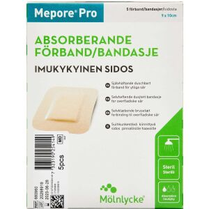 Køb Mepore Pro 9x10 cm 5 stk. online hos apotekeren.dk